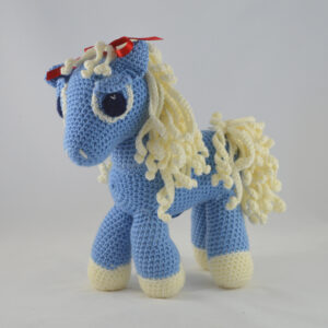 Blue Pony Amigurumi