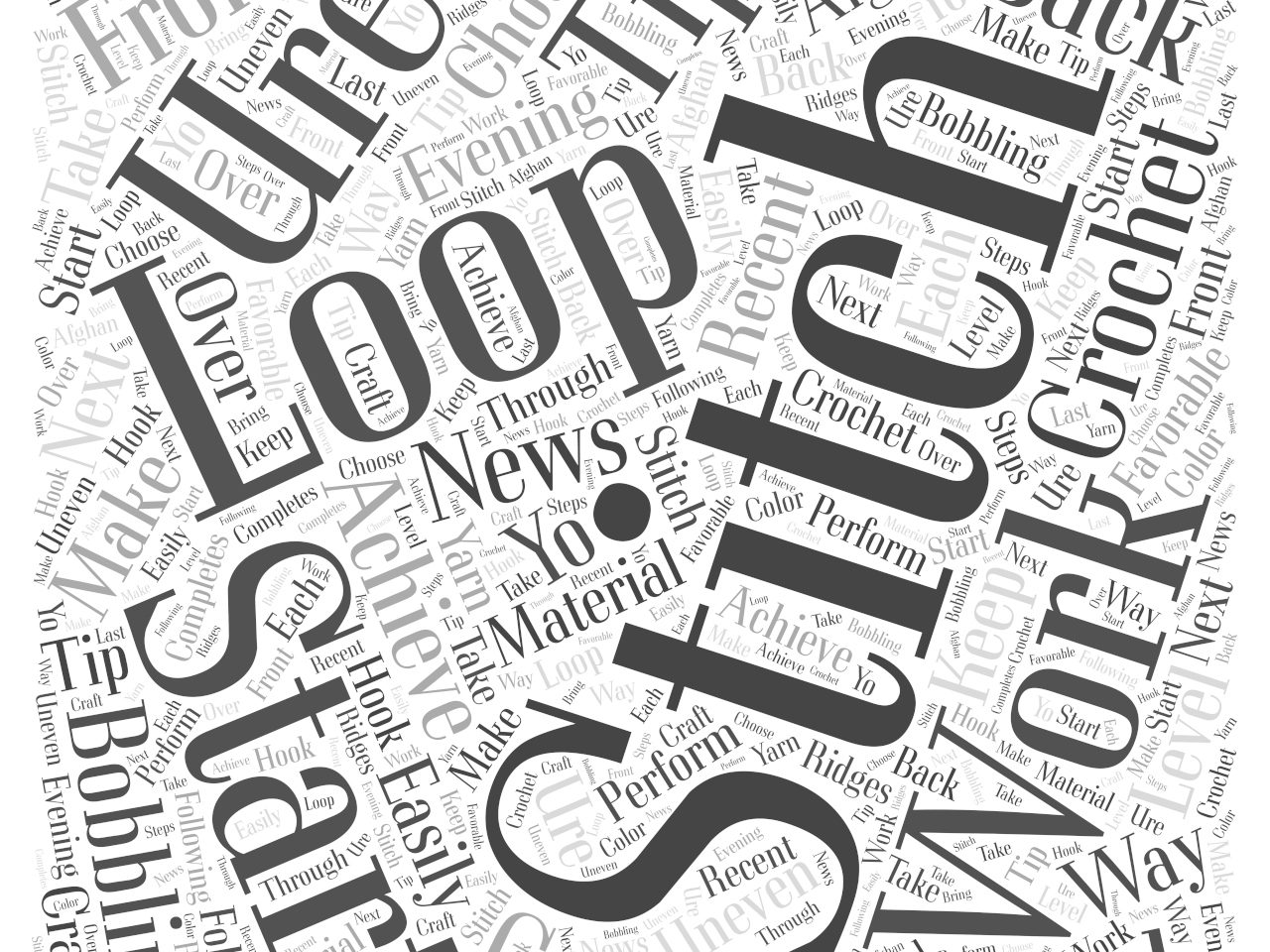 How to Craft the Evening News Afghan word cloud concept